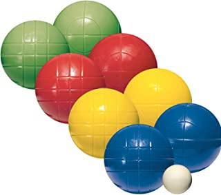 Franklin Sports Bocce Sets - Regulation Bocce Balls and Pallino - Beach and Lawn Bocce Set for Kids and Adults - Intermediate