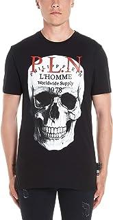 PHILIPP PLEIN Men's F19CMTK36117PJY002N02 Black Cotton T-Shirt