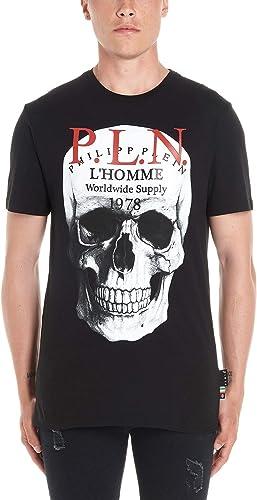 Philipp Plein Homme F19CMTK36117PJY002N02 Noir Coton T-Shirt