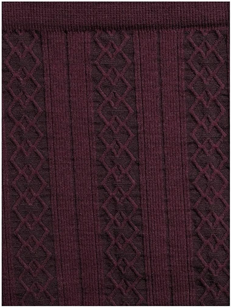 Time and Tru Wine Fusion & Black Soot 2 Pack Cable Knit Fleece Lined Leggings