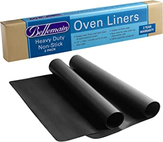 2 Pack Large Non-Stick Oven Liners Heavy Certified BPA and PFOA Free by Bellemain