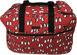 Vera Bradley Grand Traveler Bag (Playful Penguins Red)