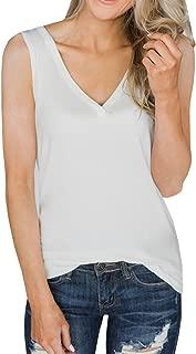 Womens V Neck Tank Tops Sleeveless Henley Shirts Button Up Ribbed Long Tunic Tees