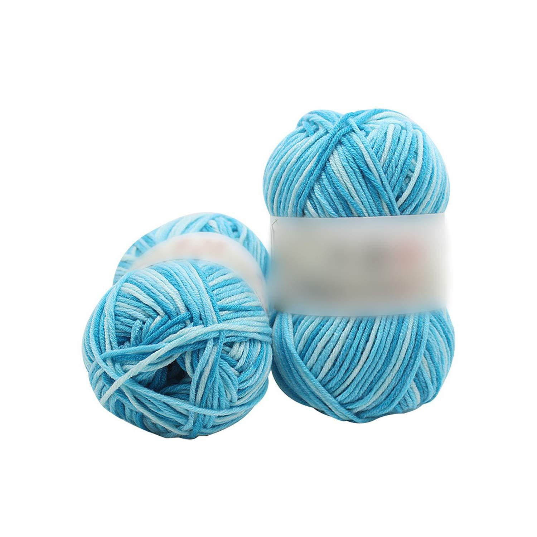 Hilo de algodón de leche suave para tejer niños hilados de punto a mano Diy manta tejida suéter de hilo de ganchillo D: Amazon.es: Hogar