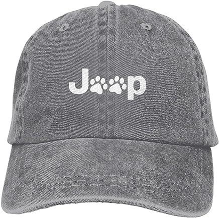 de58d9bf Jeep Dog Paw Plain Adjustable Cowboy Cap Denim Hat for Women and Men