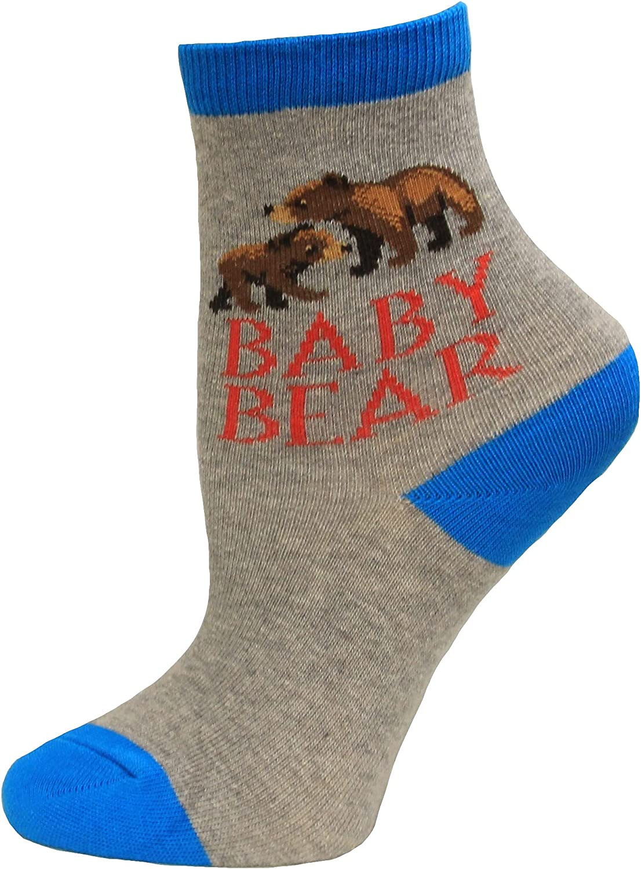 Hot Sox Kid's Baby Overseas parallel import regular item Bear Crew famous Pair Heather Socks S 1 Grey