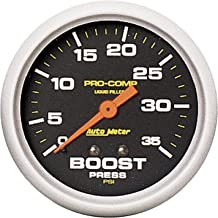 Auto Meter 5404 Pro-Comp Liquid-Filled Mechanical Boost Gauge