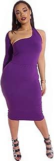 Best purple one shoulder short dress Reviews
