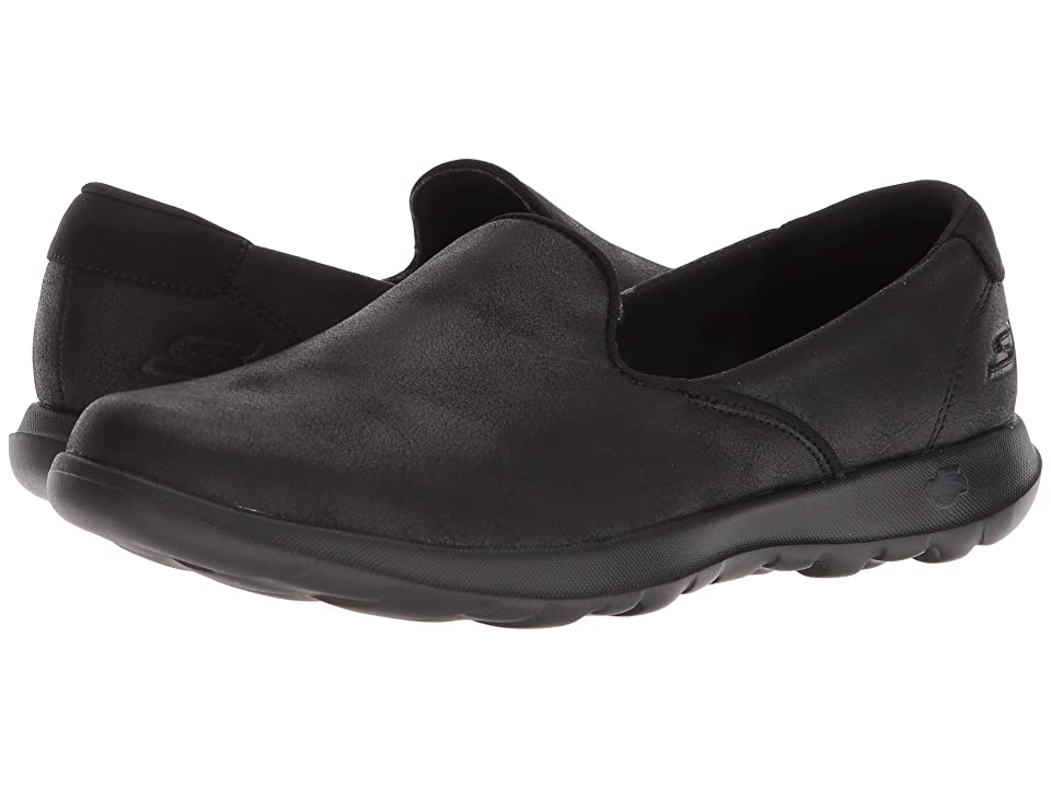 SKECHERS Performance Go Step Lite - Queenly (Black) Women's Slip on  Shoes