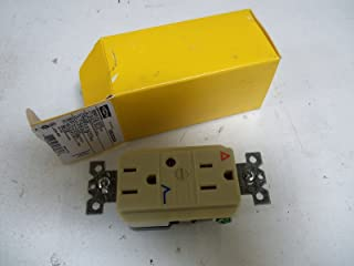 1- Hubbell IG5262ISA Receptacle, Surge Suppressor, IG Isolated groumd 15A, 125V, IVORY