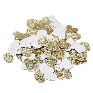 Mybbshower Gold Glitter Heart Stickers Engagement Party Wedding Invitation Decoration Envelope Seals Pack of 200