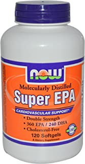Now Foods Super Omega EPA Molecularly Distilled 120 Softgels