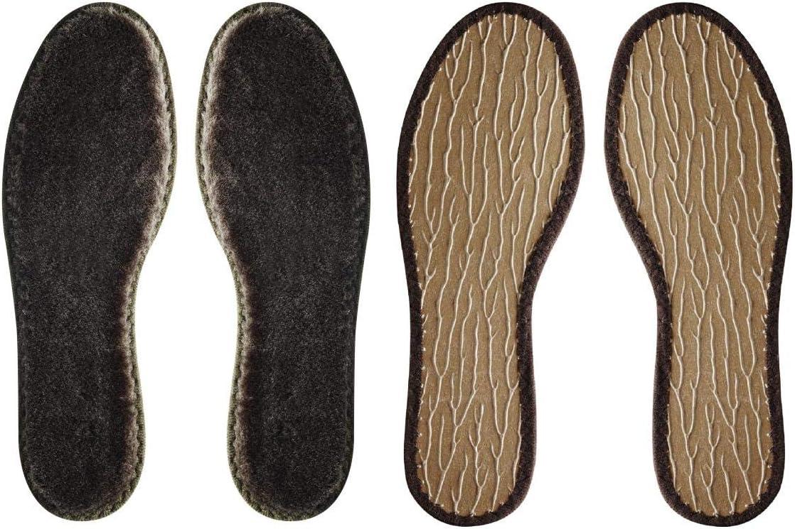 36 2 paia di solette invernali in lana merino 100/% marrone