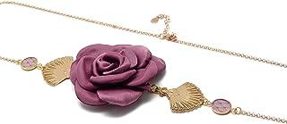 Fascia GATSBY fiore regolabile ventaglio Giappone retro fiore polveroso oro rosa ottone 24k oro capelli accessorio art dec...
