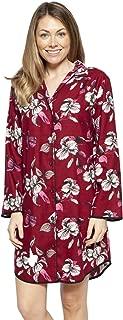 Cyberjammies 4270 Women's Alice Burgundy Red Mix Floral Cotton Nightshirt