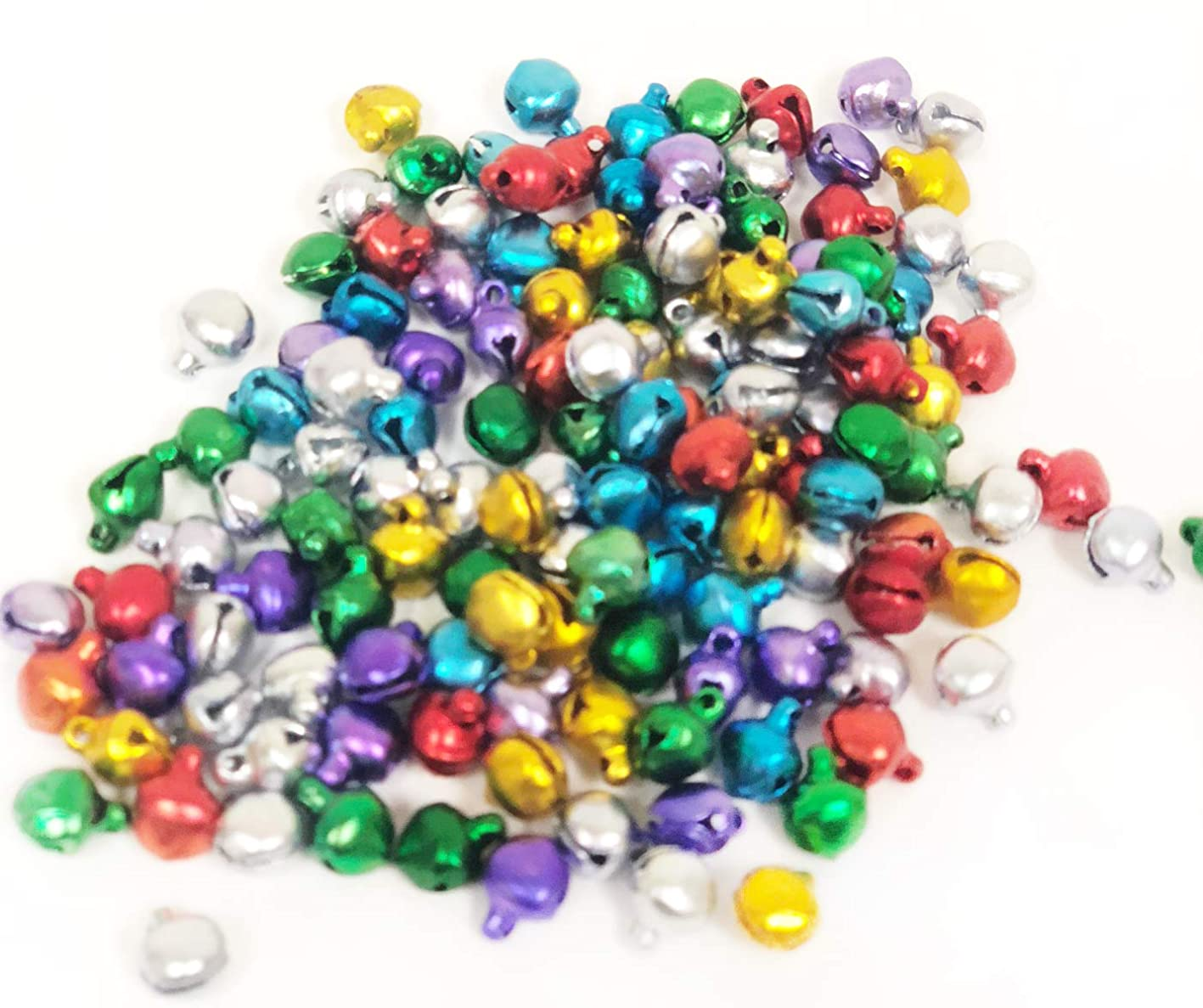 6 mm Bright Jewel Aluminum Jingle Bells, Pack 144 tgfzihounyh854