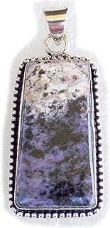 Charoite Pendant, Silver Plated Brass Pendant, Handmade Pendant, Gift Jewelry, Women Jewellry, Fashion Jewellry, BRS-12238