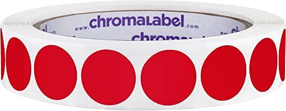 ChromaLabel 3/4 inch Color-Code Dot Labels   1,000/Roll (Red)