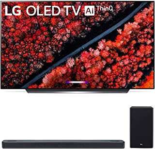 "LG OLED55C9PUA 55"" C9 4K HDR Smart OLED TV w/AI ThinQ (2019 Model) with LG 3.1.2 Channel High Res Audio Sound Bar with Meridian Technology, Dolby Atmos (SL8YG)"