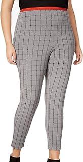 40d206c6083ec5 HUE Women's Plus Size Windowpane Loafer Skimmer Leggings - Gray Size 3X