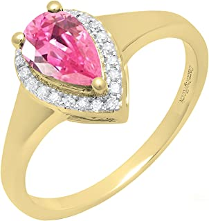 Best lab created pink sapphire engagement rings Reviews