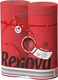 Renova Red Label Maxi Toilet Paper, Red