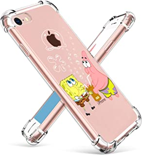 "Coralogo for iPhone 7/8/SE 2020 TPU Case, 3D Cute Cartoon Funny Design Stylish Character Kawaii Fashion Fun Unique Cool Cover Skin Teens Kids Girls Boys Cases for iPhone 7/8/SE 4.7"" (Sponge Patrick"