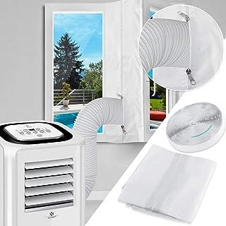 KESSER Fensterabdichtung 400cm für Mobile Klimagerät, Klimaanlage, Wäschetrockner, Ablufttrockner, Hot Air Stop zum Anbringen an Fenster, Dachfenster, Flügelfenster/Fensterabdichtung