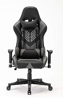كرسي ألعاب بليتزد بظهر مرتفع وتصميم سباقي أنيق (سيول رمادي)
