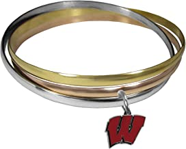 NCAA Wisconsin Badgers Womens Tri-color Bangle Bracelet