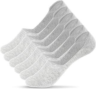 UMIPUBO, 10/6 pares de calcetines de algodón para hombre, transpirables, antiolor e invisibles 6 pares, gris claro. Taille unique
