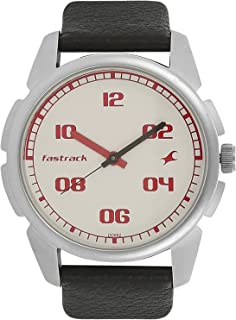 Fastrack Men's Casual Wrist Watch with Analog Function, Quartz Mineral Glass, Water Resistant with Silver Metal Strap/Leather Strap