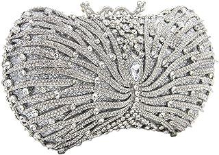 Ladies Evening-Bags Diamante Crystal Womens Chain Purse-Clutch Glitter Wedding