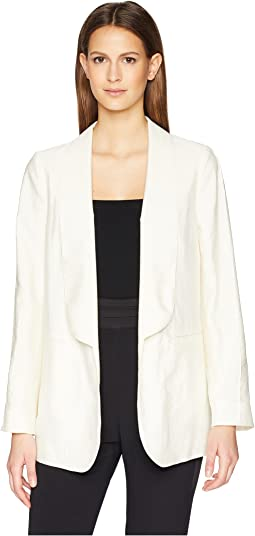 Silk Cold Shoulder Blazer