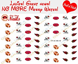 Cardinals Clear Vinyl Peel and Stick Nail Decals (NOT Waterslide) by One Stop Nails V1 (OSN1)