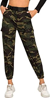 SweatyRocks Women's Drawstring Casual Joggers Pants with Pockets
