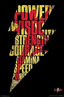 Trends International DC Comics Movie - Shazam - Bolt Wall Poster, 22.375