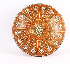 yaunli Tatami kussen Marokkaanse Kunstleer Poef Craft Mandala Borduurwerk Ottomaanse Voetbank Ronde Ongevulde Kussen Gewev...