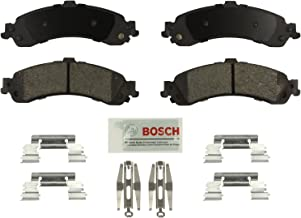 Bosch BE834H Blue Disc Brake Pad Set with Hardware for Select Full-Size Cadillac, Chevrolet, and GMC Trucks and SUVs - REAR