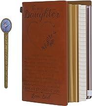 Påfyllningsbar läderdagbok anteckningsbok till min dotter resedagbok anteckningsbok för flickor perfekta födelsedagspresen...
