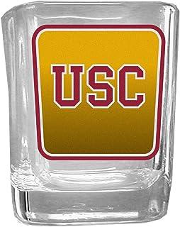 NCAA Siskiyou Sports Fan Shop North Carolina Tar Heels Square Glass Shot Glass Set 2 pack Team Color