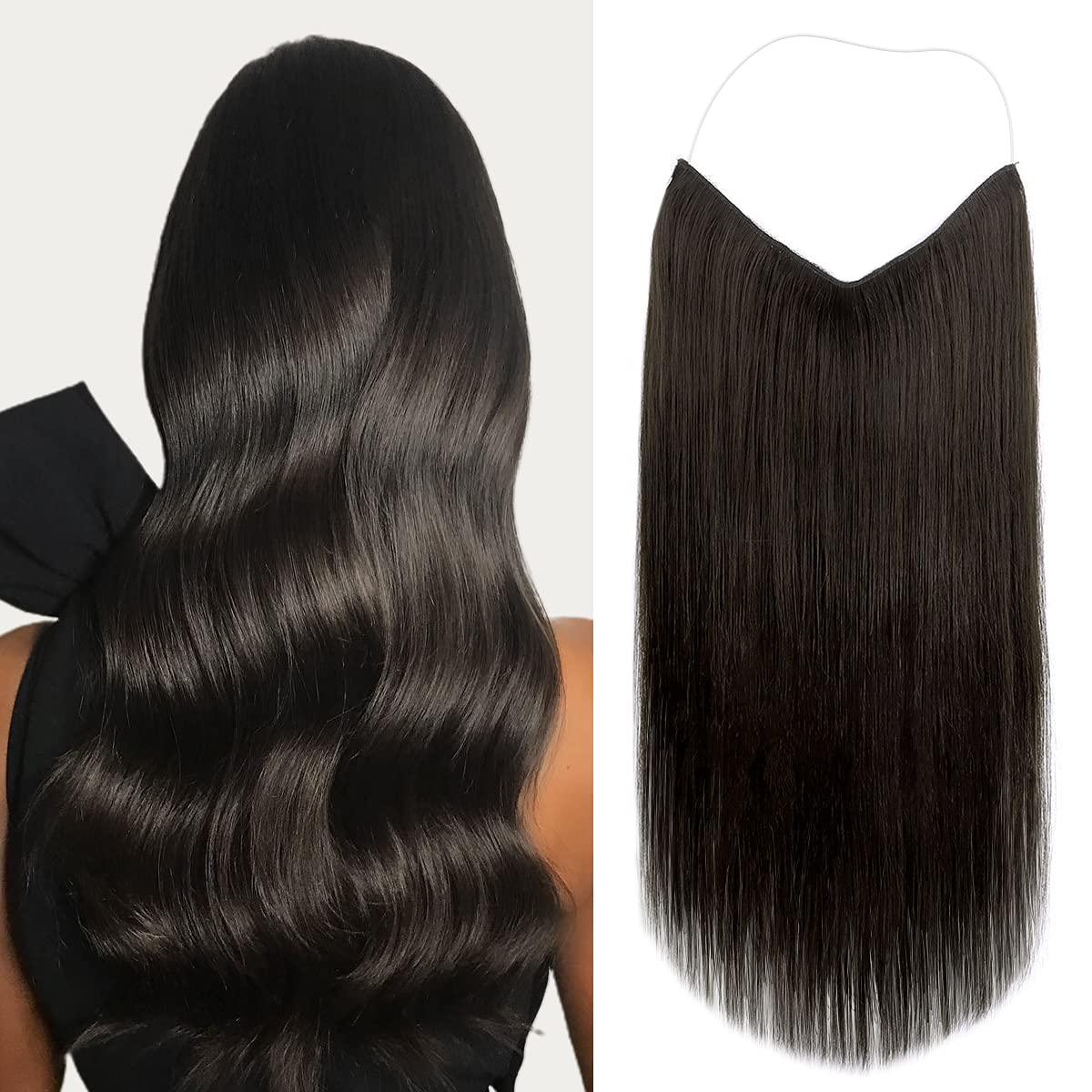 Marat Halo Hair A surprise price Now on sale is realized Extensions Dark Huma Brown