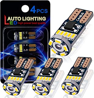 Best AutoLite T10 194 2825 Led Bulbs, Super Bright Interior Car Light Bulbs 168 W5W, Xenon White 6000K with CANBUS Error Free, Best for License Plate Light Led Dome Light Map Truck Door Courtesy Light Review