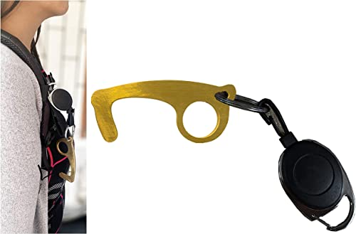 The Medi Shield Touch Free Use at Atm, Lifting Bags, Life Operation, Edc Machines Easy to Carry Brass Made Door Opene...