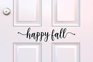 Happy Fall Decal Happy Fall Vinyl Door Decal Fall Porch Decor Happy Fall Decal Fall Decoration Entryway Vinyl Halloween De...
