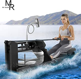 Mr Rudolf Oak Wood Water Rowing Machine with Monitor Home Gyms Training Equipment Sports Exercise Machine Fitness Indoor