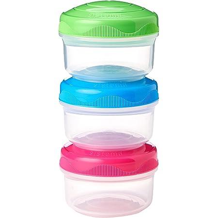 Sistema to Go Mini Bites, Multicolore, 5.07oz, Lot de 3