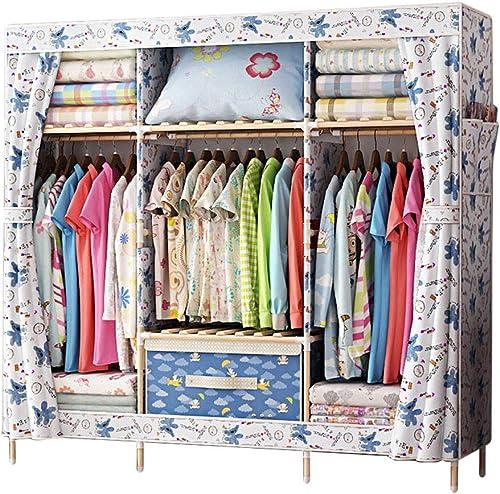 Armario Simple para armarios de Montaje en casa Armario 150  45  170 cm (Color   B)