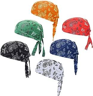 Doo Rag Bicycle Skull Caps Helmet Liner Cooling Hat Cap Summer Sweat Wicking Beanie Cap Hat for Women & Men