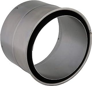 Kamino Flam väggfoder dubbel i silver, för Senotherm belagda ugnsrör 1 mm, dubbelväggfoder av brandaluminerat stål, testad...
